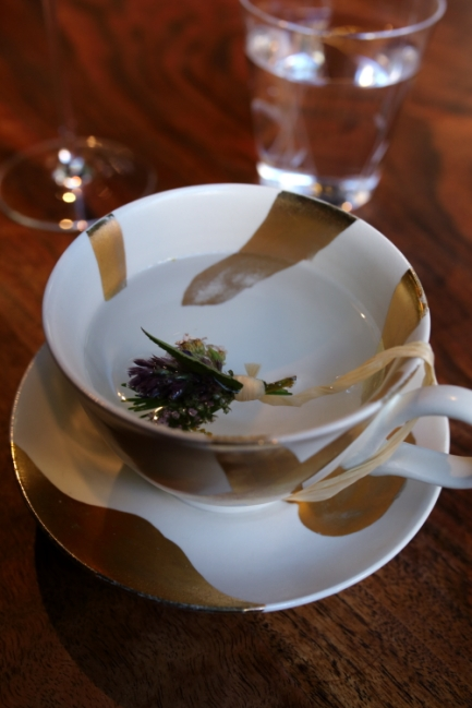 Infusion with herbs from the garden.