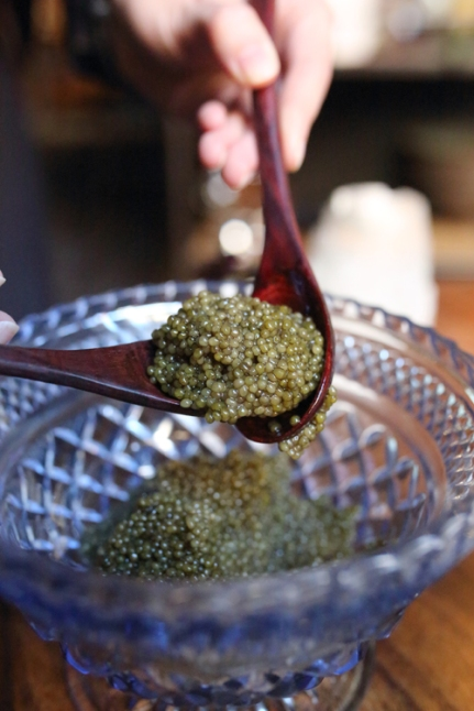 Saison reserve caviar - golden oscietra cured with their own smoked salt.
