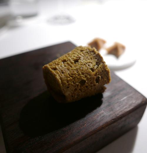 Salt pistachio sponge.